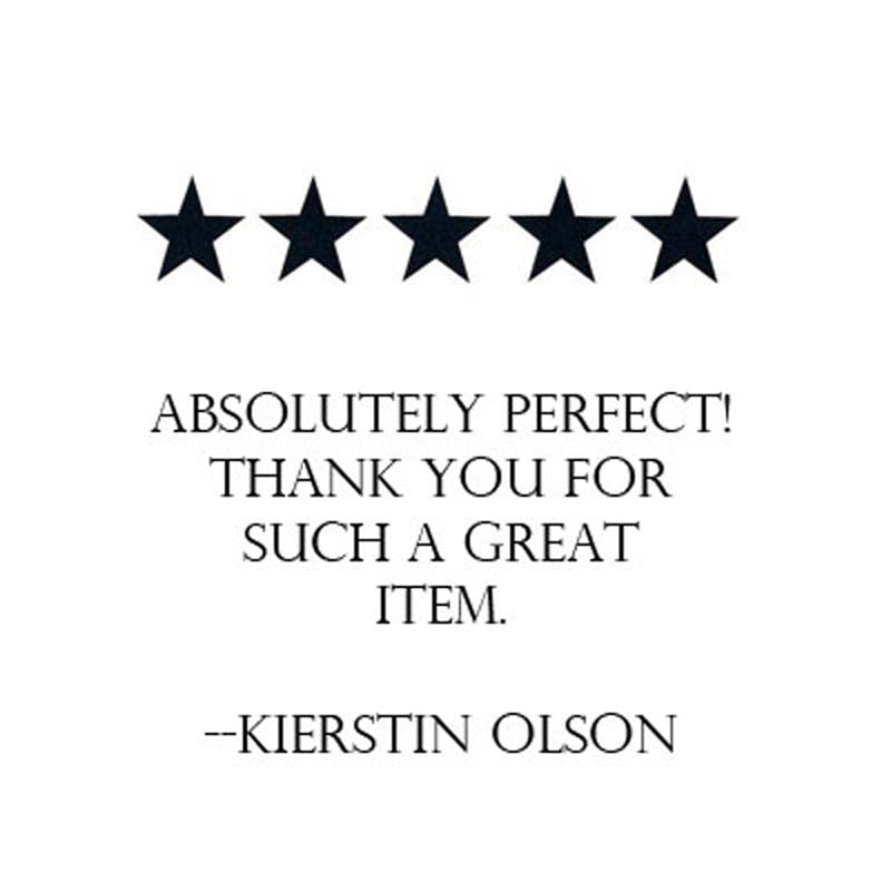 five star review left by kierstin olson