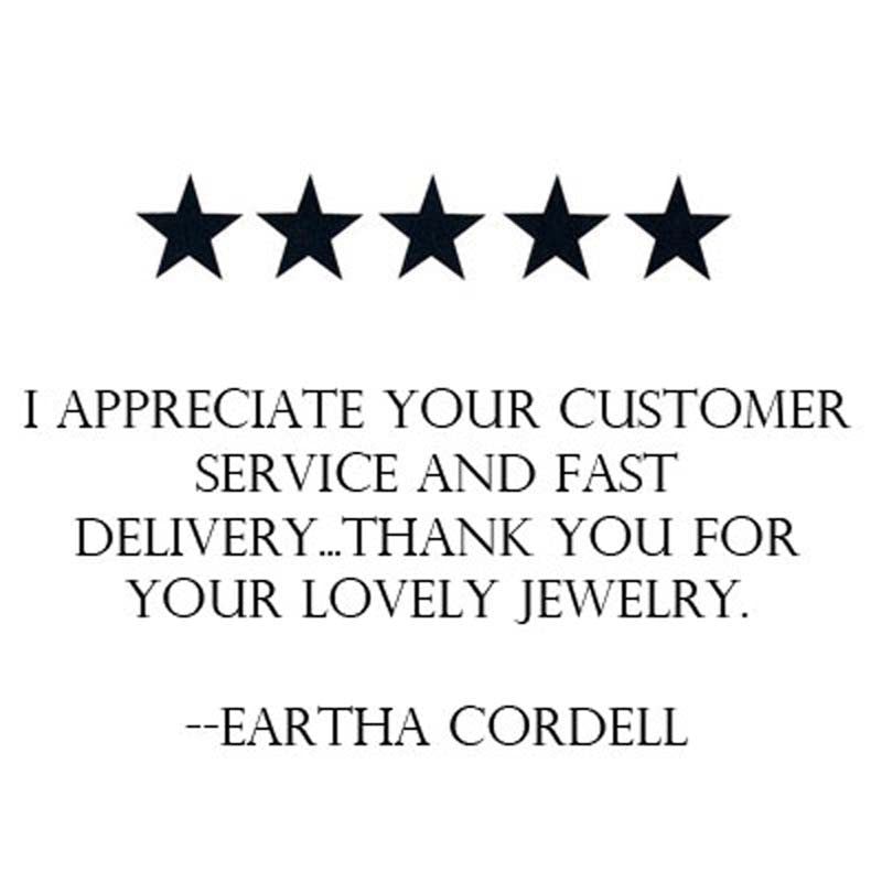 customer review five stars thank you for lovely jewelry