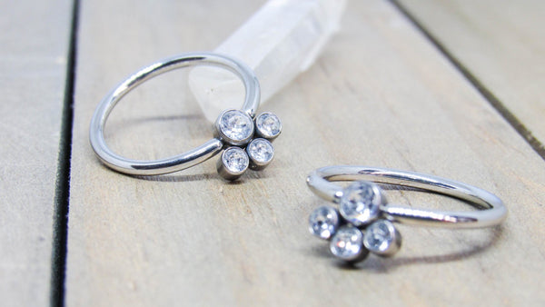 Titanium captive bead rings 14g nipple piercing hoops hypoallergenic 12 diameter pair anodized pick your color