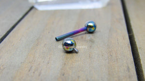 "Titanium tongue ring piercing barbell 14g 1/2"" 5/8"" 3/4"" internally threaded 5mm ball ends pick your color - SirenBodyJewelry"