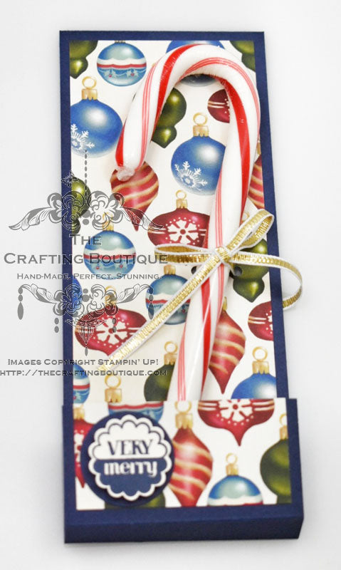 Blue Candy Cane Holder