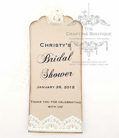 Bridal Shower Gift Tags - Kraft