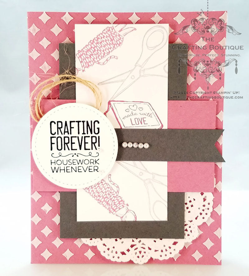 Feminine Crafting Card