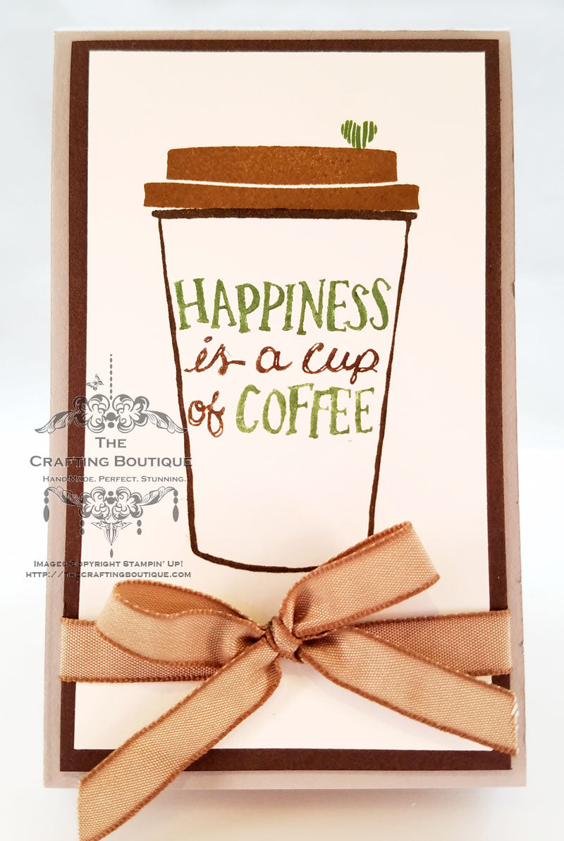 Coffee Cup Notepad (Happiness)