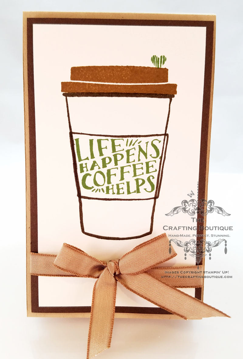 Coffee Cup Notepad (Coffee helps)