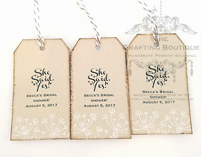 She said, Yes! - Gift Tags