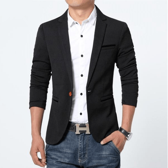 Premium Slim Cotton Blazer Jacket - Bachelor Hut