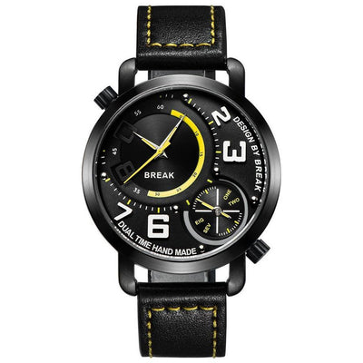 Break New Men Sports Style Dual Time Zone Quartz Watch -  Watches - BuyShopDeals