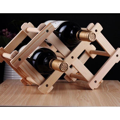 Classical Wooden Wine Bottle Kitchen Bar Holder Display -  Drinking - BuyShopDeals