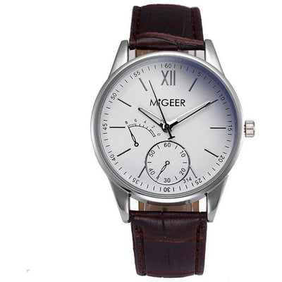 MiGeer Leather Quartz Watch -  Watches - BuyShopDeals