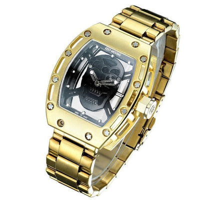 Bosck 2017 Luxury Pirate Skull Stainless Steal Quartz Watch -  Watches - BuyShopDeals