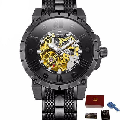Binger Sapphire Crystal Luxury 3D Watch - Bachelor Hut