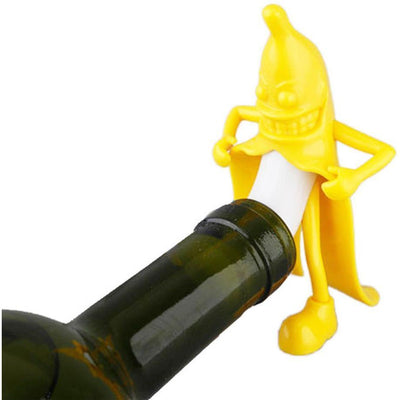 Mr. Happy Banana Wine Stopper -  Drinking - BuyShopDeals