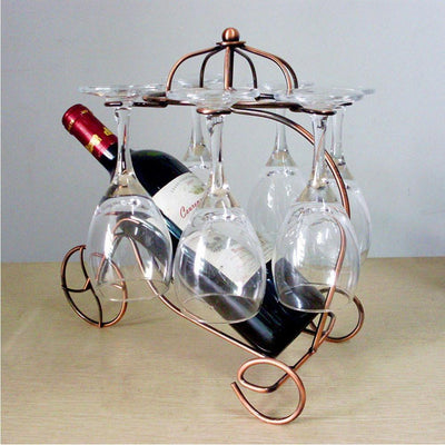 Metal Wine and Glasses Rack -  Drinking - BuyShopDeals
