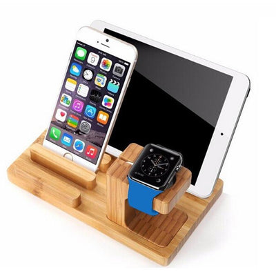 Real Bamboo Wood Desktop Stand -  Accessories - BuyShopDeals