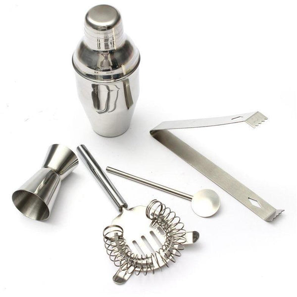 5 Piece Stainless Steel Drink Cocktail Bar Kit - Bachelor Hut