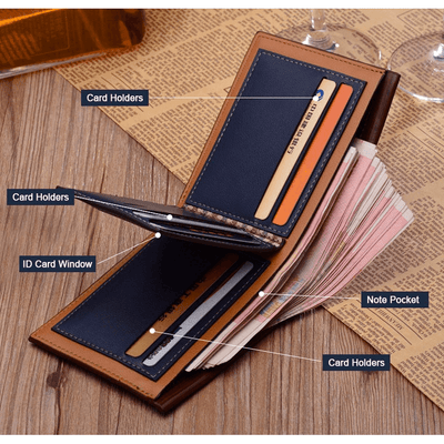 High Quality Vintage Men Genuine Leather Wallet -  Accessories - BuyShopDeals