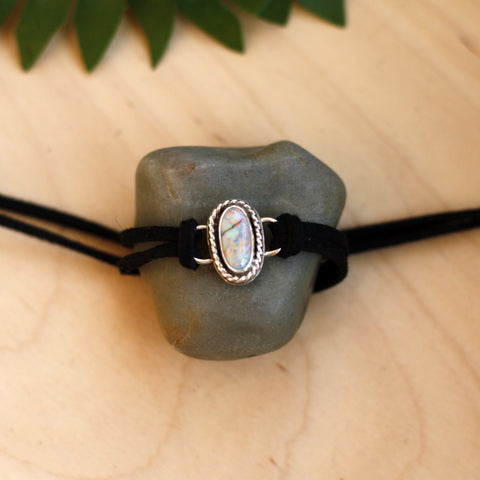 80 Smith Jewelry - Zinnia Choker with Monarch Opal set in Sterling Silver