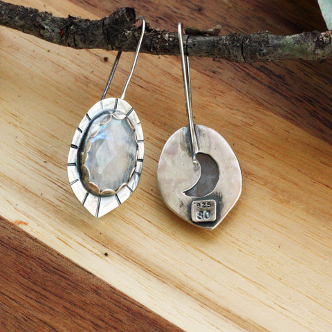 80 Smith Jewelry Moonstone Shield Earrings