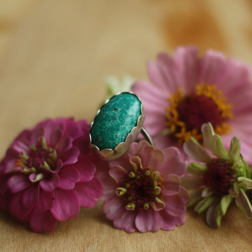 Ring with Turquoise Mountain Turquoise