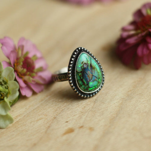 Ring with Monarch Opal