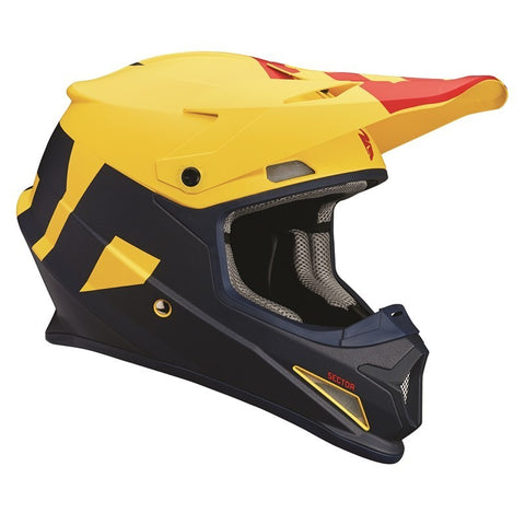 OUTLET CASCO THOR SECTOR LEVEL OFFROAD AZUL/AMARILLO