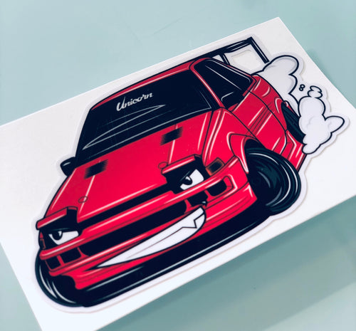 Cartoon - Unicorn Garage AE86