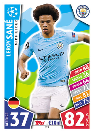 Manchester City Base Cards