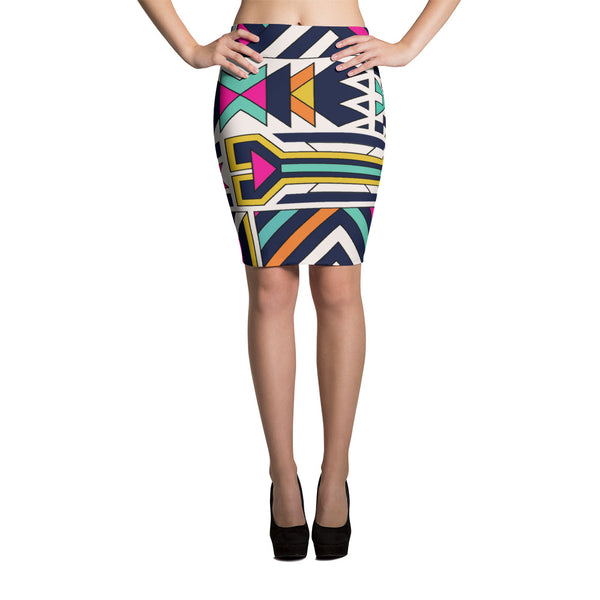 Ankara African Themed Pencil Skirt