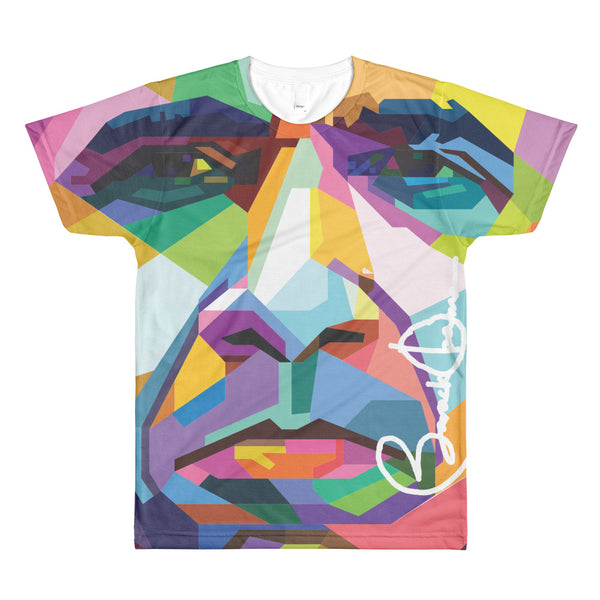 Barack Obama Face T-shirt  All over printed t-shirt on a top-quality 100% polyester t-shirt printed on both sides Sublimation men's crewneck t-shirt