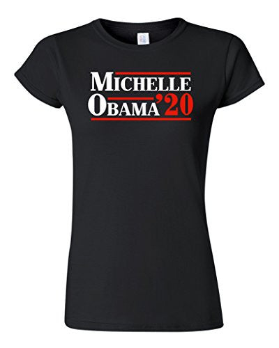Design A Shirt Print Michelle Obama 20 First Lady President Political Women O-Neck Short-Sleeve Tee