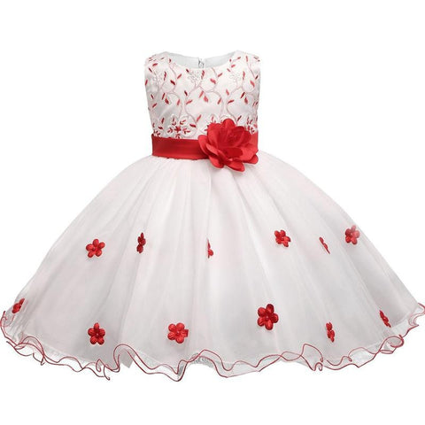 Flower Girl Children's Dress For Wedding Bridal Gown Infant Party Costume For Kids Baby Girl Evening Ball Toddler Girls Clothes