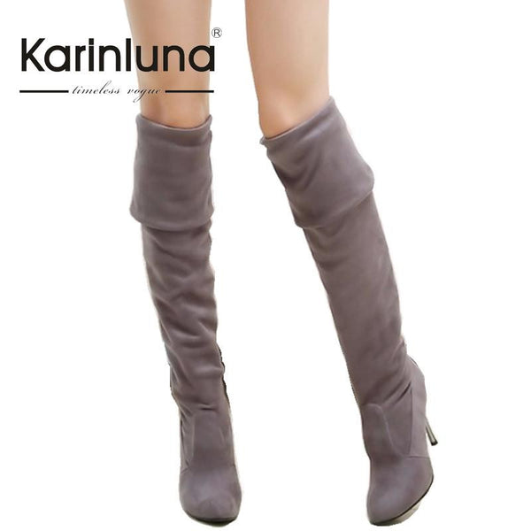 Big Size 34-43 High Heels Women Boots Over the Knee High Boots Party Sexy Lady Fashion Winter Woman Shoes Brand New