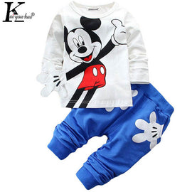 Boys Clothes 2017 Autumn Children Clothing Boys Sets Tracksuit Baby Clothes For Girls Cartoon Cotton Sprot Suit Costume For Kids