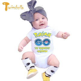 TWINSBELLA Baby Boy Bodysuits Summer Fashion Pokemon Cartoon Printed Baby Onesie Outfits Kids Overalls Newborn Clothes