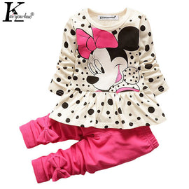 Spring Gir Sport Suit Cartoon 2017 Tracksuit For Girls Clothes Sets Costume For Kids Clothes Long Sleeve Children Clothingl Sets
