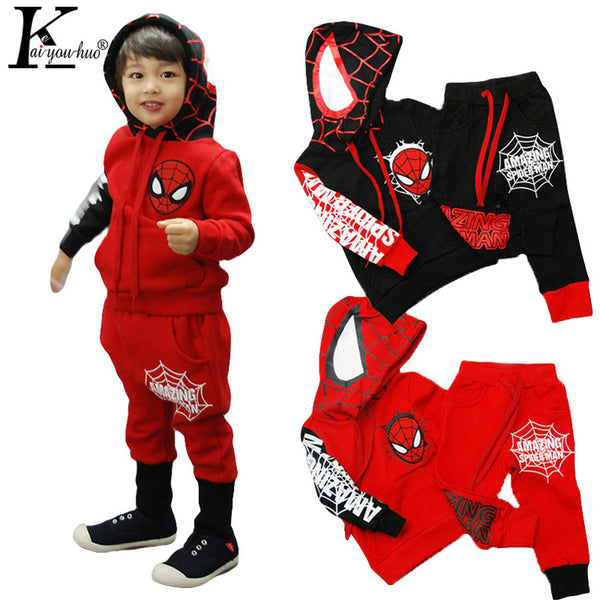 2017 Girls Clothes Set (T-shirts + pants ) Children Clothing Cartoon Suits Boys Sets Baby Clothes Sport Suit Costume For Kids