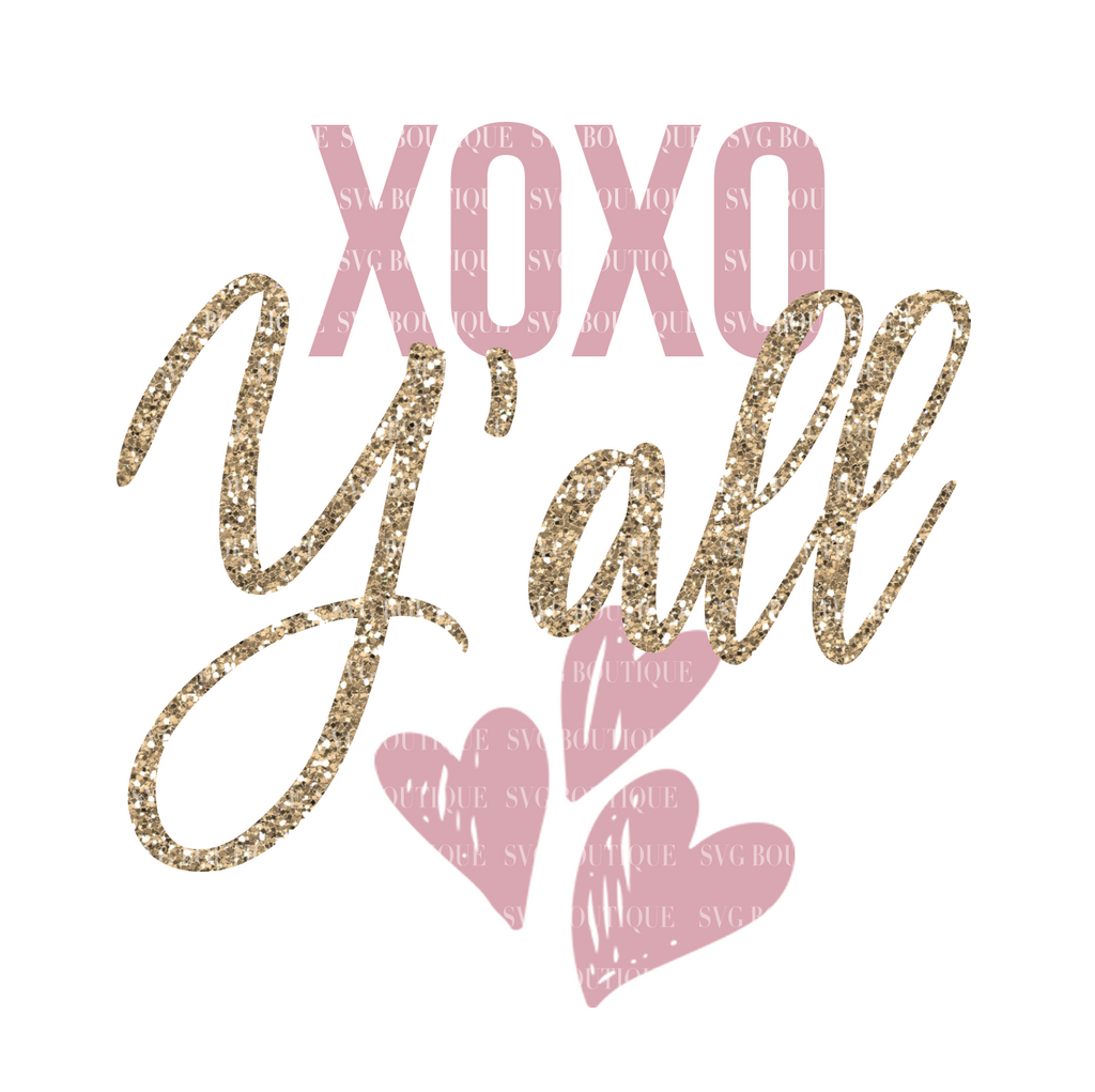 XOXO Y'all SVG File