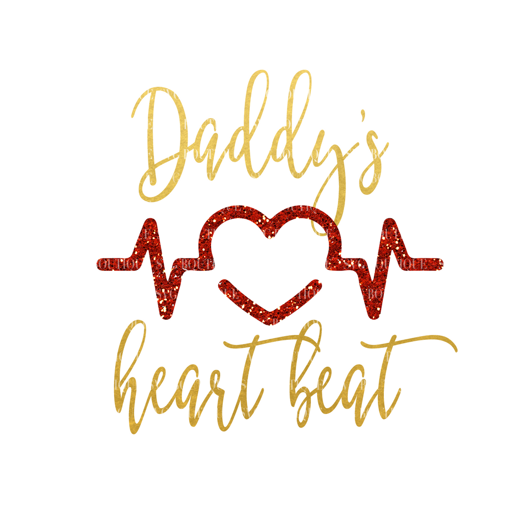 Daddy's Heartbeat SVG File