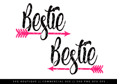 Bestie Arrows SVG Cutting File