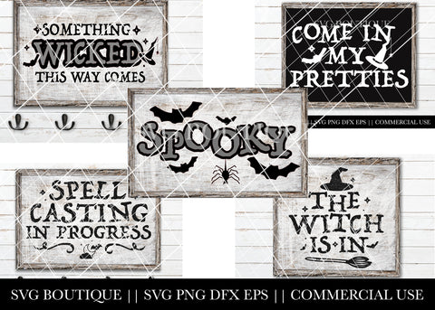 Halloween SVG File Bundle - SVG File Silhouette and Cricut Cutting Machines