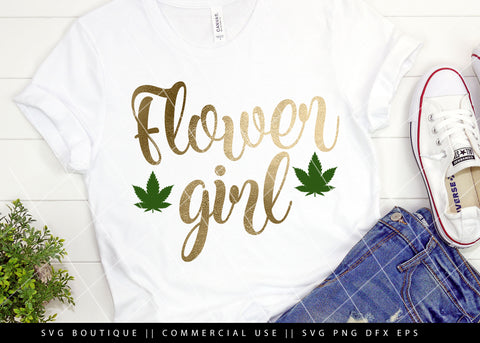 Flower Girl - Weed/Dope SVG Files -  Cut File For Silhouette and Cricut Cutting Machines
