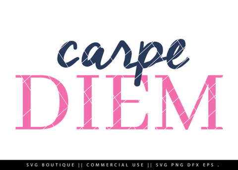 Carpe Diem - Motivational SVG File