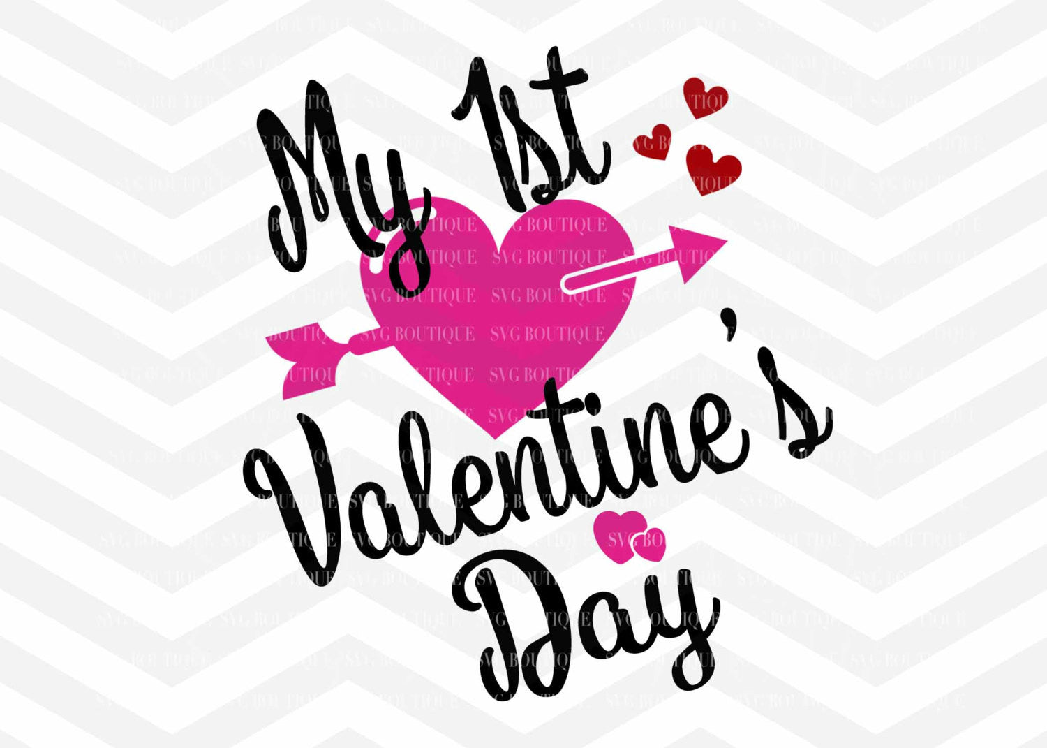 My First Valentines Day Valentine Day Svg File Girl Valentine