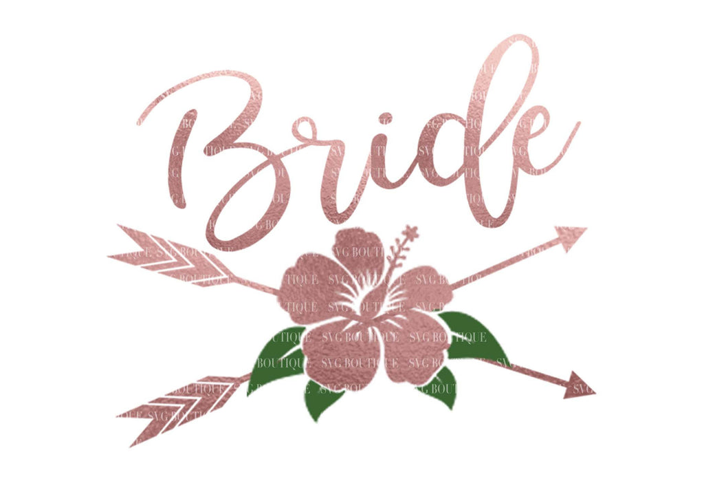 Bride SVG File, Wedding SVG File, Bridesmaid Overlay, Floral, Arrow, Bridal Party, Wedding Cut Files, Wedding Vector, Cricut, Silhouette