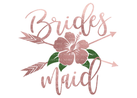 Bridesmaid SVG File, Wedding SVG File, Bridesmaid Overlay, Floral, Arrow, Bridal Party, Wedding Files, Wedding Vector, Cricut, Silhouette