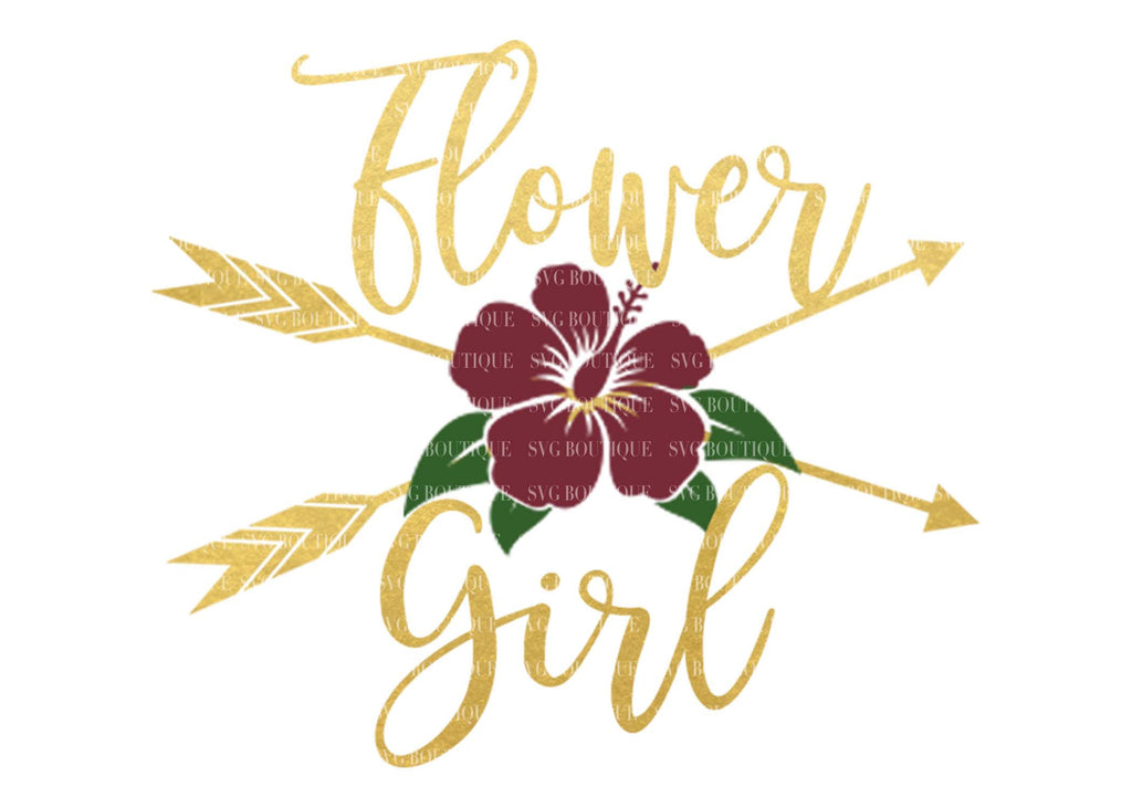 Flower Girl SVG File, Wedding SVG File, Flower Girl Overlay, Floral, Arrow, Bridal Party, Wedding Files, Wedding Vector, Cricut, Silhouette