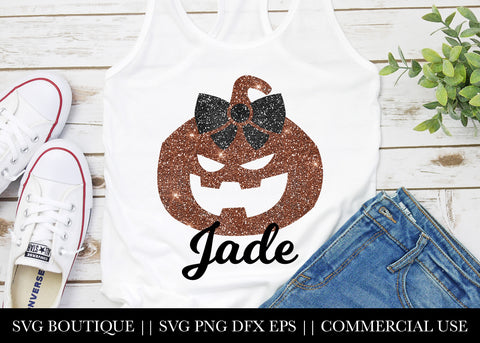 Pumpkin Name SVG File Silhouette and Cricut Cutting Machines