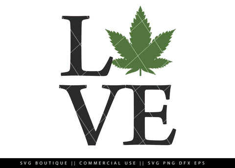 Love Weed/Dope -  Cut File For Silhouette and Cricut Cutting Machines