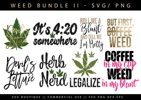 Weed Tray Bundle Version 2 - 10 Weed/Dope SVG Cutting Files